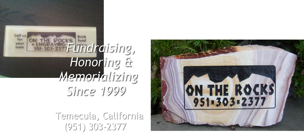 ENGRAVED BRICK FUNDRAISERS by On the Rocks Engraving